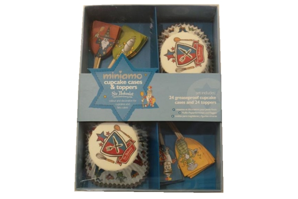 Miniamo Cupcake Cases and Toppers - Boy