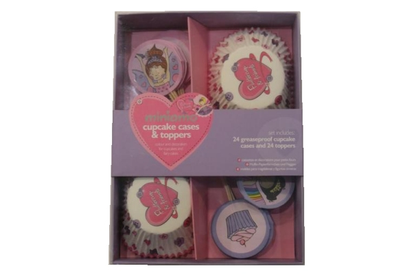 Miniamo Cupcake Cases and Toppers - Girl