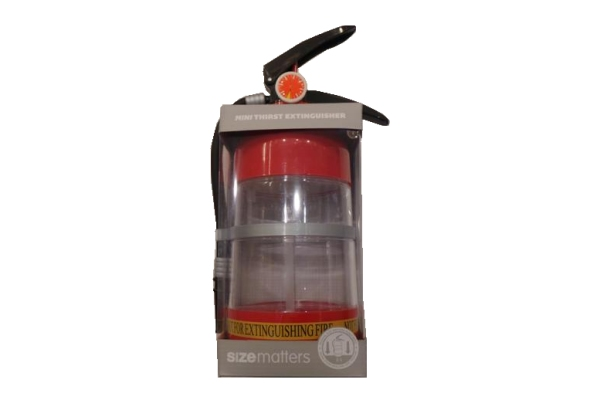 Mini Thrist Extinguisher water bottle