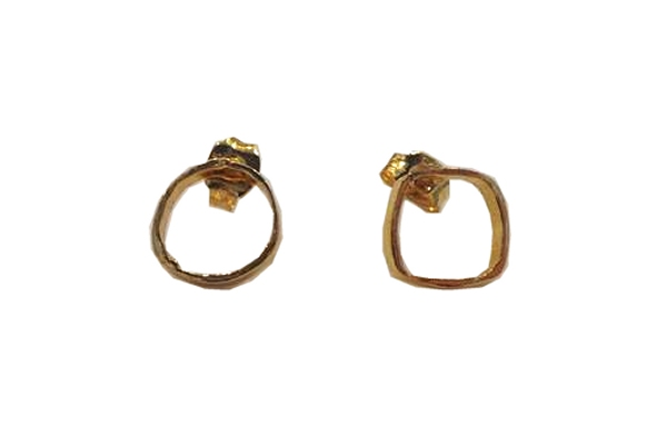 Gorjana Circle and Square Earrings 18K Gold Plated