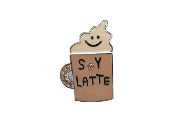 Latte Brooch