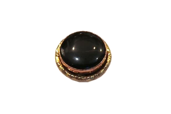 Adjustable Black Stone Ring