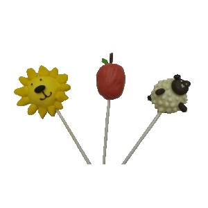 Lion, Apple and Sheep Cake Pop